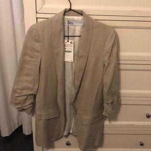 Women's Zara Linen Blazer Size XS *NWT*